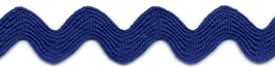 Royal Blue - Ric Rac - Standard 16mm Wide 22m Reel