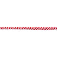Red Gingham Crochet-edged Poplin Bias Binding Double Fold - 15mm X 25m