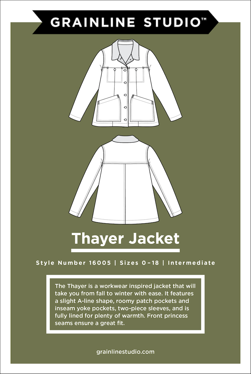 Thayer Jacket Pattern Size 0-18 by Grainline Studio