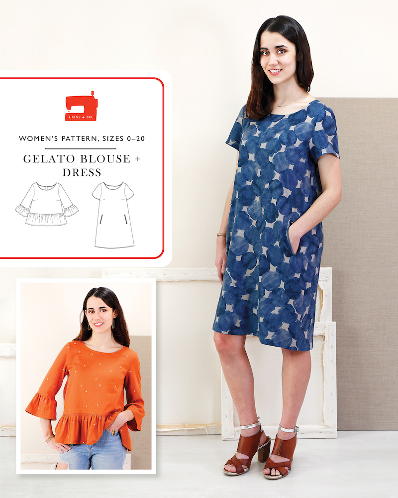 Gelato Blouse + Dress - Liesl + Co Pattern