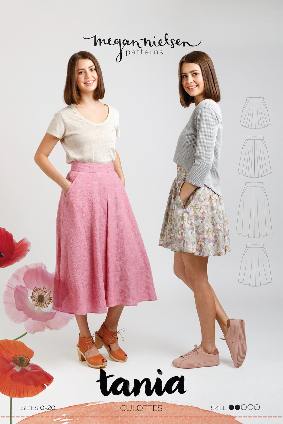 Tania Culottes Pattern By Megan Nielsen