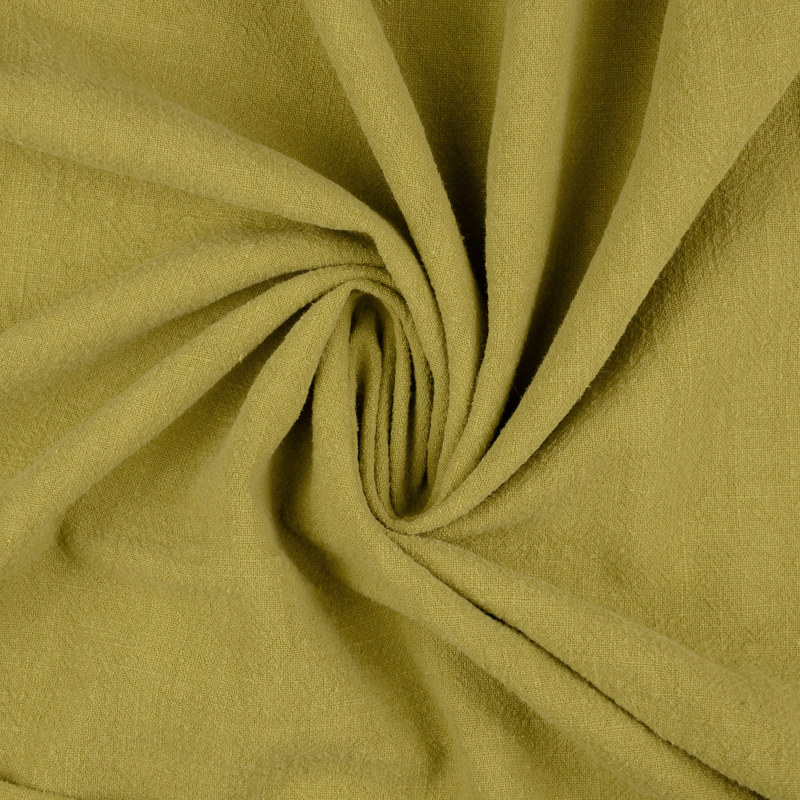 Sligo Chartreuse Washed Ramie Fabric