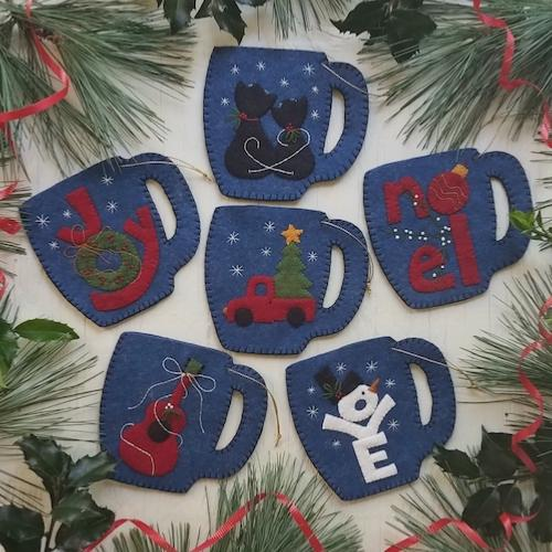 Merry Mugs - Felt Ornament Kits (6)