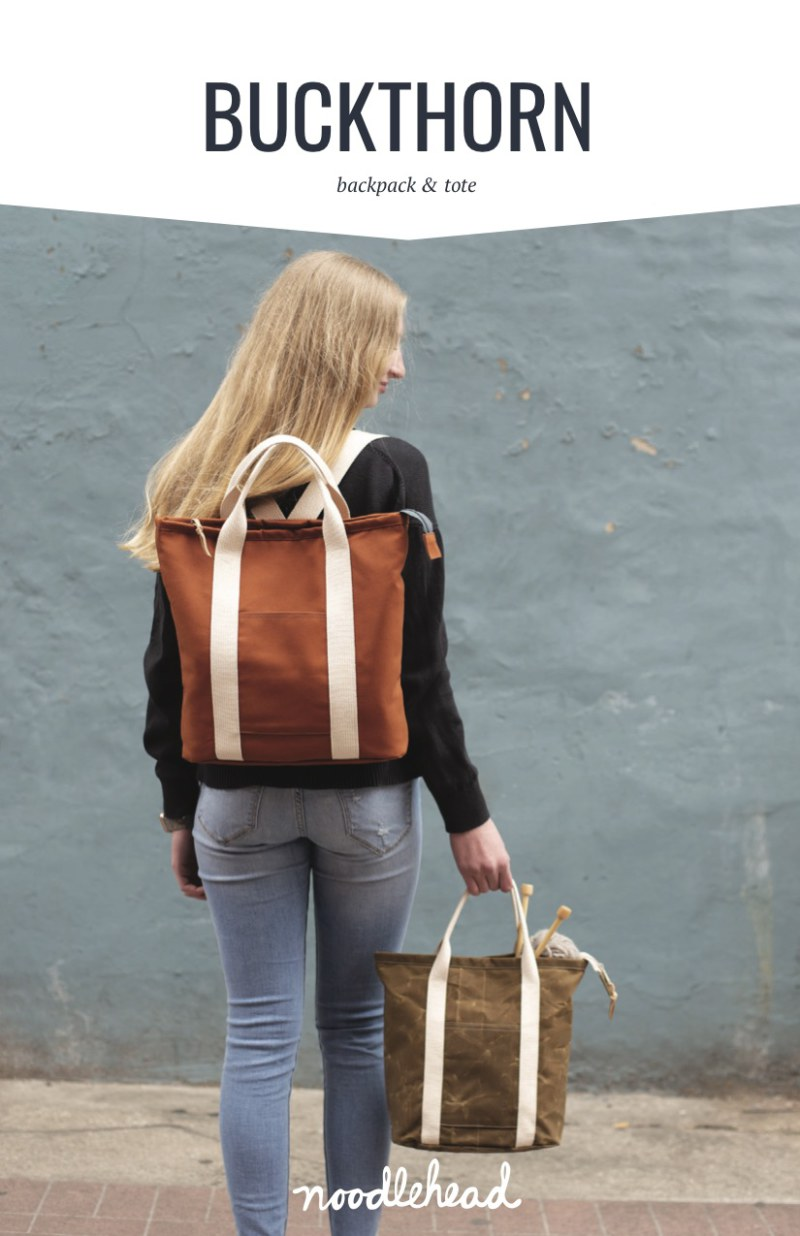 Buckthorn Backpack & Tote Pattern by Noodlehead