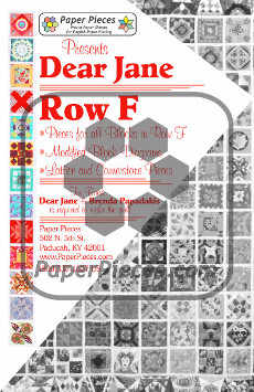 Dear Jane Quilt Paper Piece Pack Row F - Paper Piecing