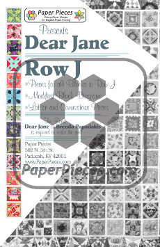 Dear Jane Quilt Paper Piece Pack Row J - Paper Piecing