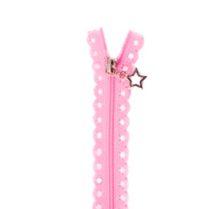 Star Zip 25cm Length - Rose