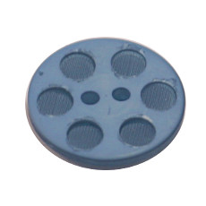 Acrylic Button 2 Hole Indented Circle 12mm Blue