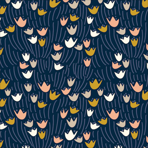 Organic Tulip Navy from Floral Deco by Elizabeth Olwen