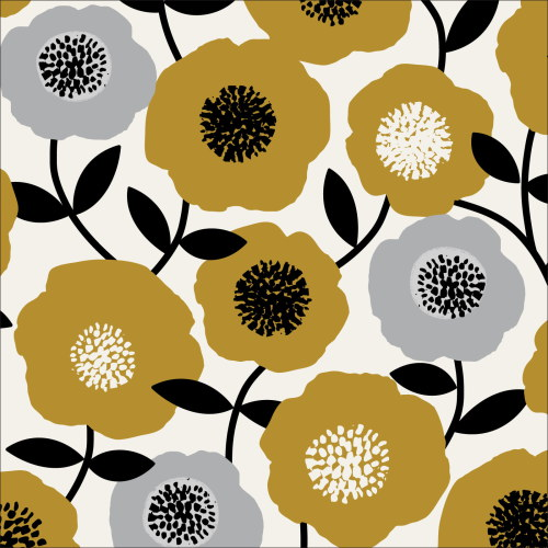 Blooms Olive from Modern Retro by Tina Vey