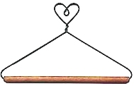 4in Heart Top Dowel Hanger
