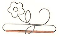 8in Pansy Wire Hanger With 0.25in Dowel