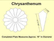 12in Chrysanthemum Small Pack 1 Complete Plate- Paper Piecing