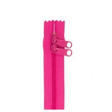 Double Slide Bag Zipper 30in Raspberry
