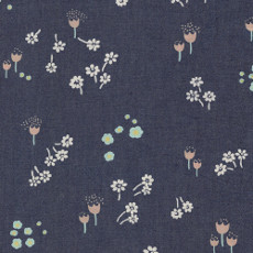 Ditsy Abrasion Denim Print - Art Gallery Fabric 58in/59in Per Metre, 100% Cotton, 4.5 Oz/sqm