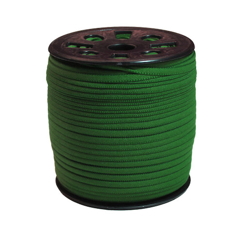 Dark Green Narrow Banded Elastic - 4mm x 92m