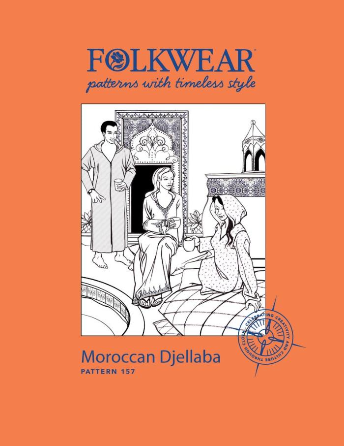 Moroccan Djellaba Hooded Caftan - Folkwear Patterns