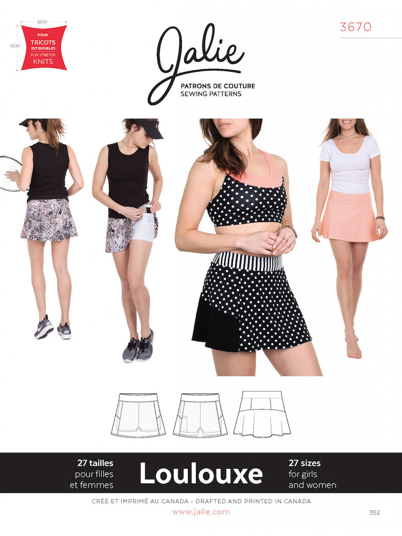 LouLouxe Skort Pattern by Jalie