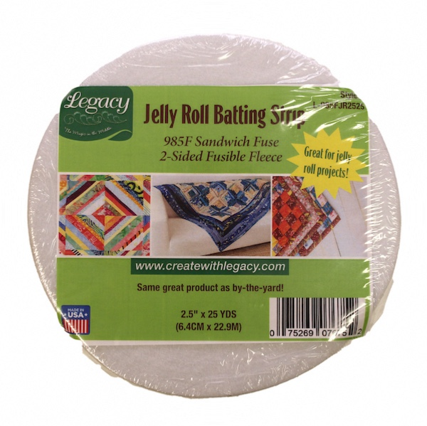 Legacy Sandwich Fuse 2 Sided Fusible Fleece - 2.25in x 23m (25yds) Jelly Roll Strip