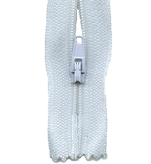Make A Zipper Standard - 197in Long With 12 Zipper Pulls - White