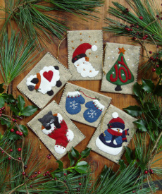 Miniature Gift Bag Ornaments - 6