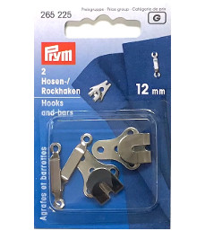 Prym Trouser And Skirt Hooks And Bars 12mm Silver Colour