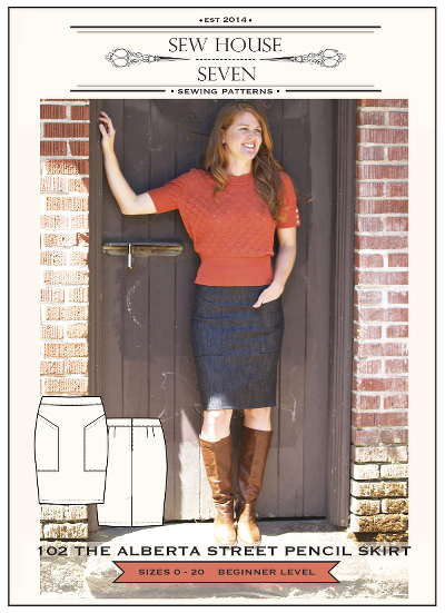 Alberta Street Pencil Skirt Pattern by Sew House Seven