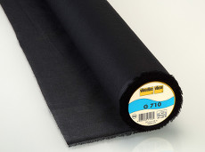 Vilene Woven Interlining Light Weight - Fusible 90cm X 25m - Black