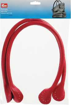 Red - Prym Bag Handles Theresa, 2pcs, 60cm, Artificial Leather
