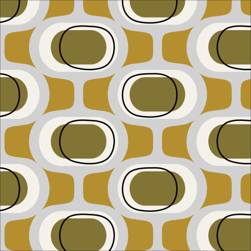 Orbs Olive from Modern Retro by Tina Vey