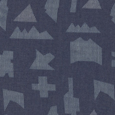 Puzzle Sandblast Denim Print - Art Gallery Fabric 58in/59in Per Metre, 100% Cotton, 4.5 Oz/sqm