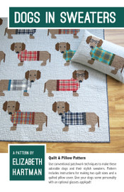 Dogs in Sweaters Quilt Pattern - Elizabeth Hartman