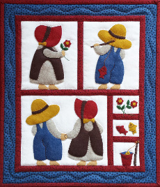 Miniature Quilt Kit - Sue And Sam 33cm (13in) X 38cm(15in)