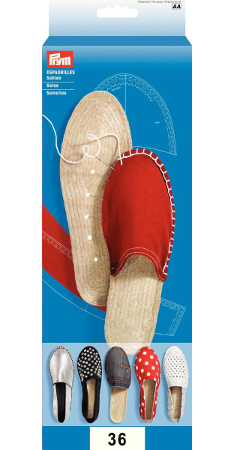 Espadrille Sole Size 36, UK3.5, Natural, 1 Pair, Rubber/Jute