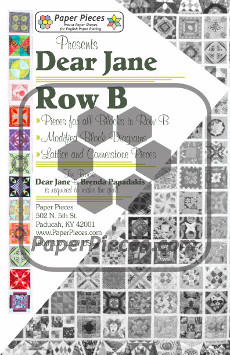 Dear Jane Quilt Paper Piece Pack Row B - Paper Piecing