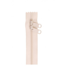 Double Slide Bag Zipper 30in Ivory