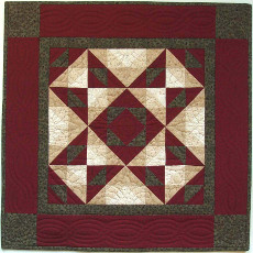 Miniature Quilt Kit - Autumn Star 22in X 22in