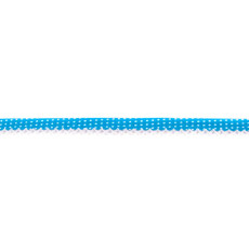 Aqua Spotted Crochet-edged Poplin Bias Binding Double Fold - 15mm X 25m