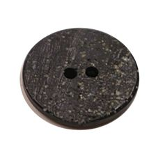 Acrylic Button 2 Hole Textured Speckle 18mm Black