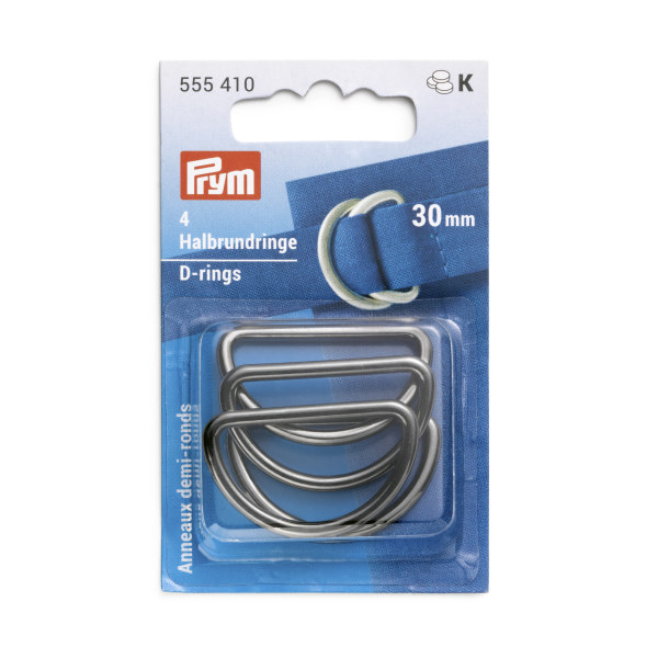 Prym D-Rings 30mm Gunmetal 4 pc