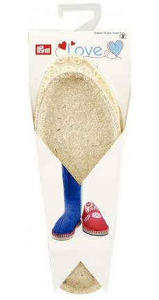 Espadrille Sole (White) Child Size 26/27, UK8.5/9.5, 1 Pair, Rubber/Jute