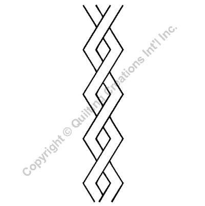 Border Quilting Stencil Size: 3in or 7.6cm...