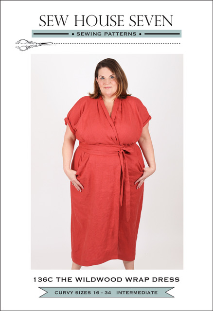 The Wildwood Curvy Wrap Dress Pattern By Sew House