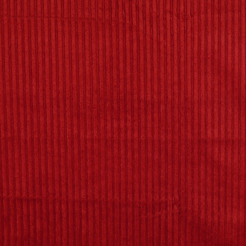 Danbury Red Chunky Needlecord Fabric