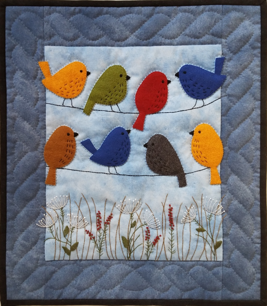 Birds On a Wire Quilt Kit by Rachels of Greenfield