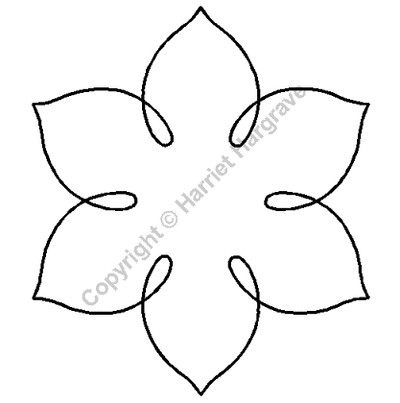 Machine Quilting Block Stencil Size: 5.5in x 5in or 12 ...