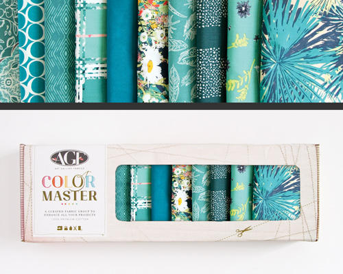 AGF Colormaster Fat Quarter Collectors Set - Teal Thoughts Edition