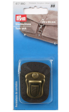 Prym Tuck Lock 40 X 55mm Brown / Antique Brass