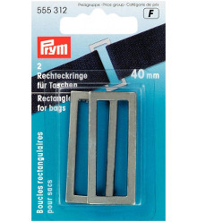 Prym Rectangle Bag Loops 40mm Antique Silver - 2 Pieces