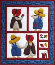 Miniature Quilt Kit - Sue And Sam by Rachels of Greenfield